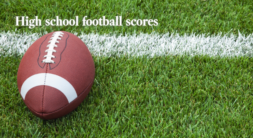 High school football scores image