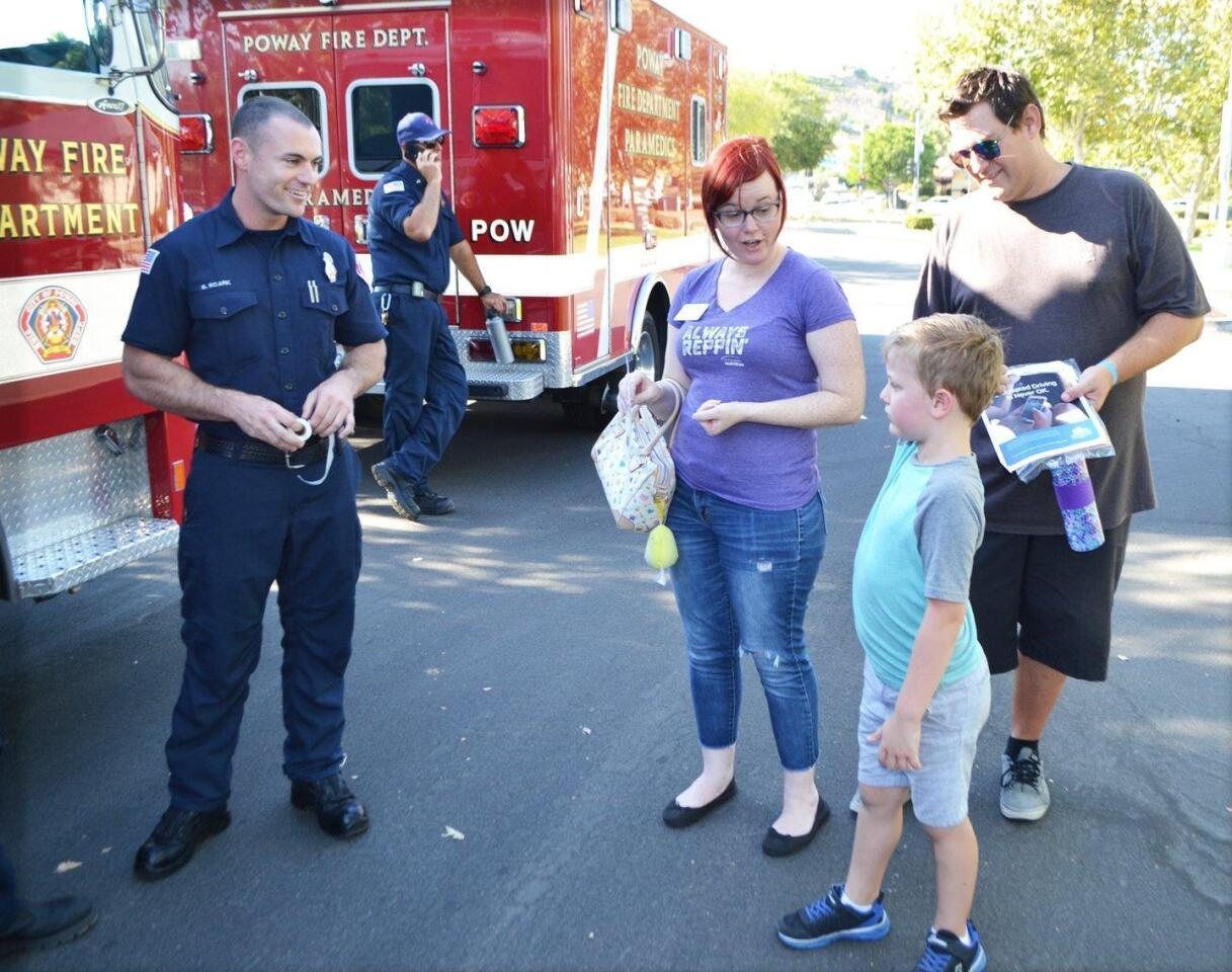 Poway's National Night Out event - 8/7/2018