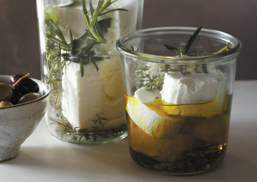 """Cheese in a Jar, from David Tanis' cookbook, """"One Good Dish: The Pleasures of a Simple Meal."""""""