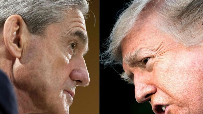 President Trump says he has the power to fire special counsel Robert S. Mueller III, who is leading the Russia investigation.