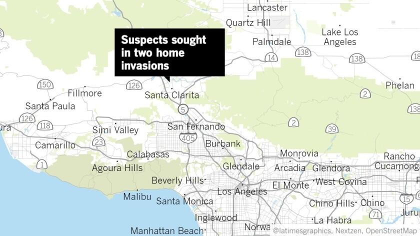Home invaders strike twice in two hours in Santa Clarita