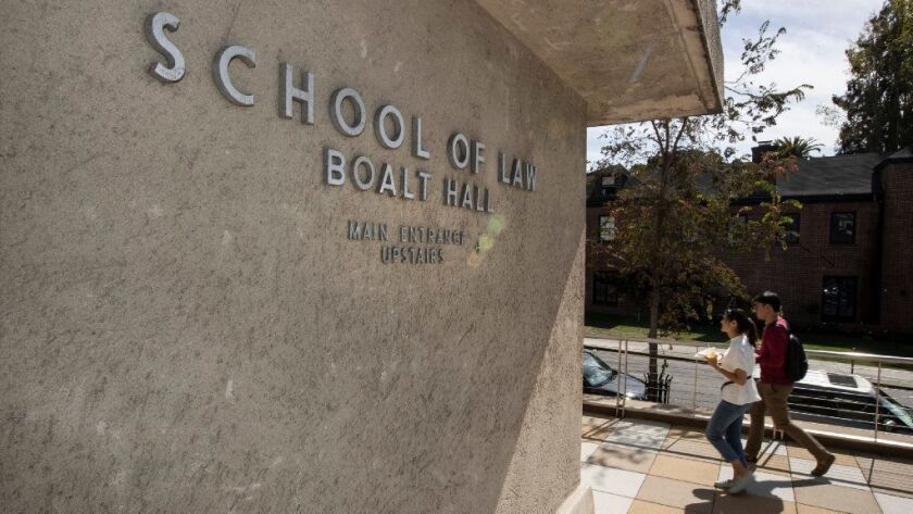 UC Berkeley Law School's Boalt Hall in October 2018