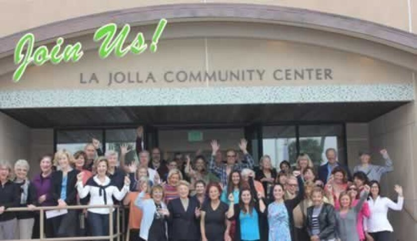 Members of the La Jolla Community Center express their enthusiasm for the recently renovated facility. Courtesy