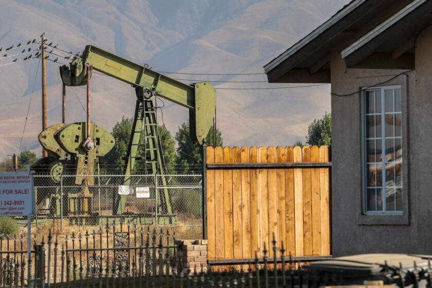 Idle oil well in Arvin, Calif.