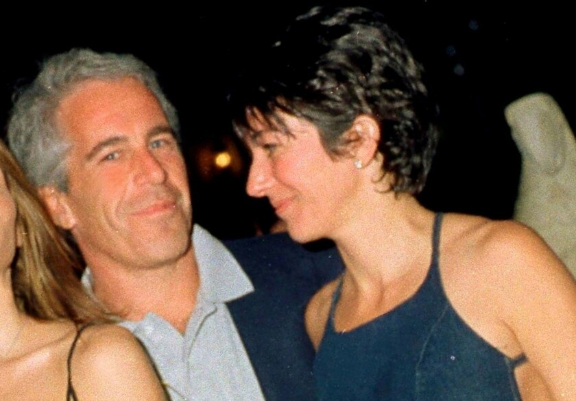 Jeffrey Epstein and Ghislaine Maxwell at Mar-a-Lago in 2000.