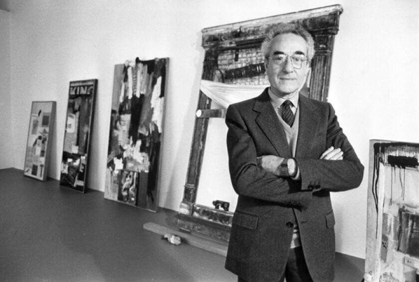"""The collector sold 80 paintings and sculptures to the young MOCA in 1984 and donated 70 more a decade later. """"His collection helped us get other works of great quality,"""" said founding member Eli Broad."""
