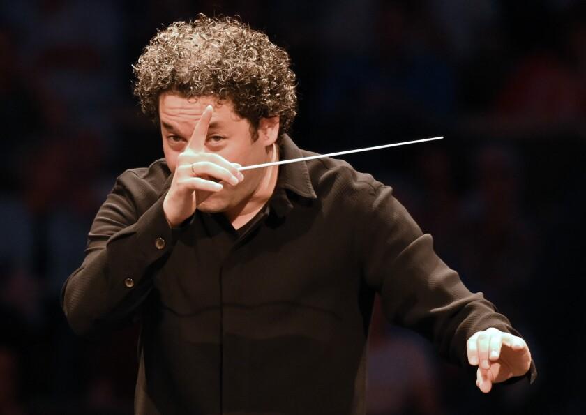 Gustavo Dudamel, conducting.