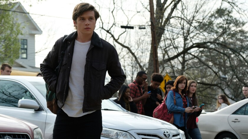 "Nick Robinson in the movie ""Love, Simon."""