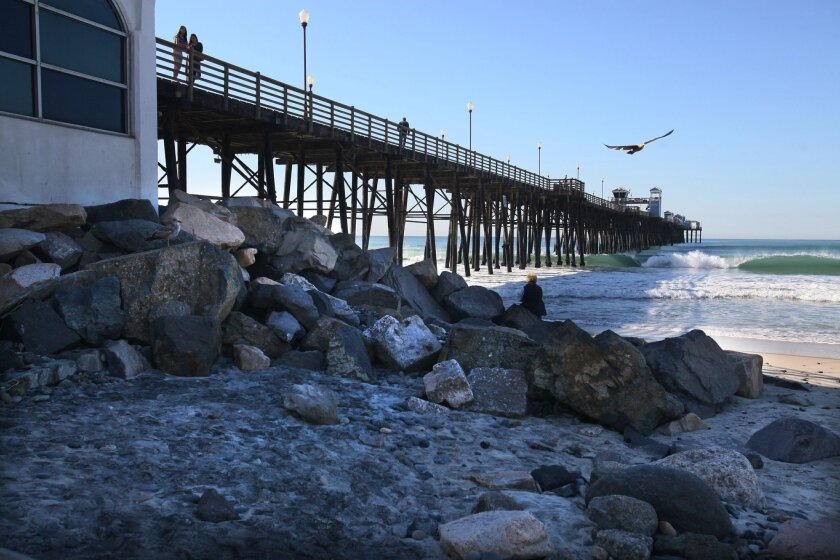 Oceanside's beaches have lost a significant amount of sand in the last couple of years, and will likely lose more in the coming months with more El Nino storms on the way.