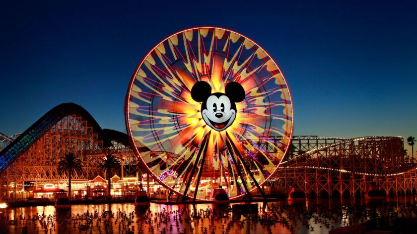 As part of a makeover, Mickey's Fun Wheel will incorporate the images of different Pixar characters and the California Screamin' roller coaster will become the Incredicoaster.