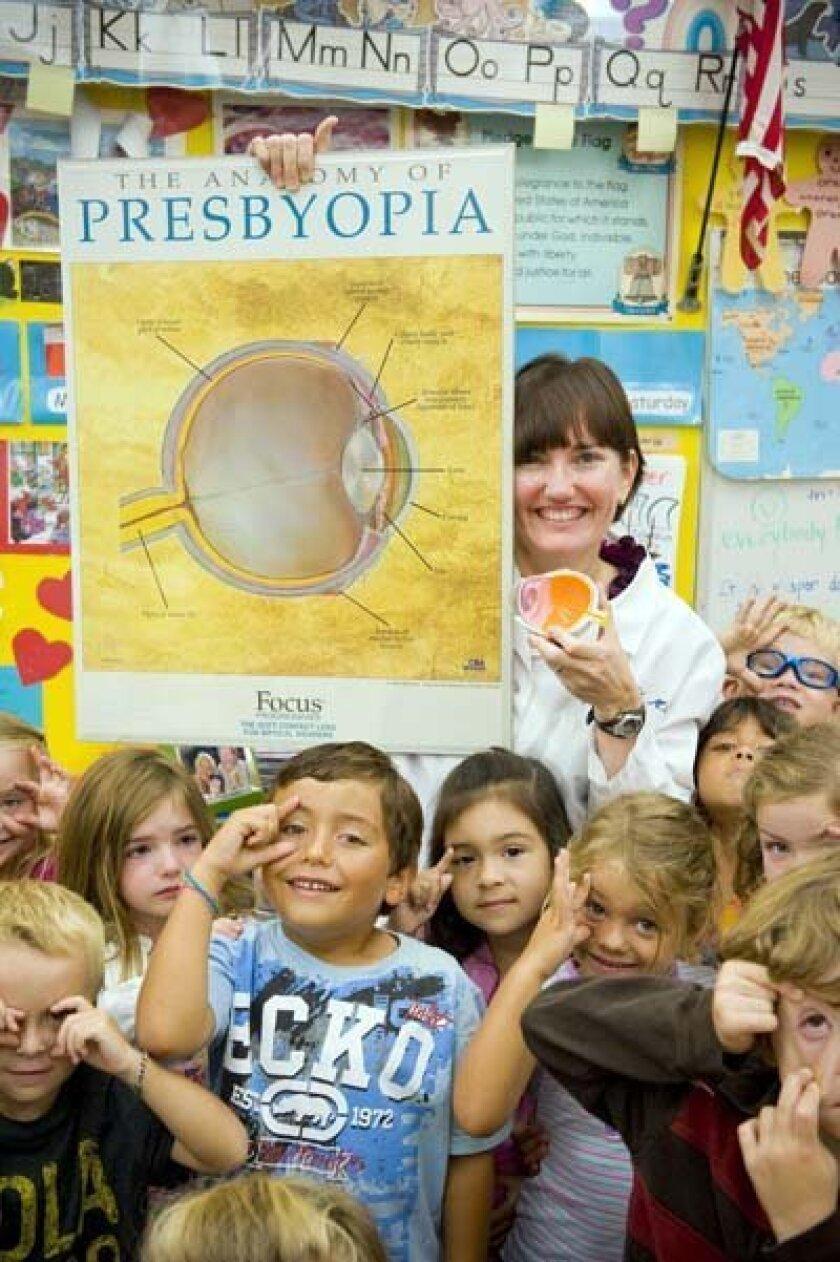 Dr. Angela Nahl visited La Jolla Elementary School. Photo: Stephen Simpson