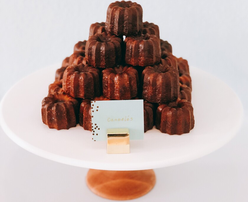 Pâtisserie Mélanie's adorable, Instagram-worthy, and utterly delicious, cannelés Bordelais cakes.