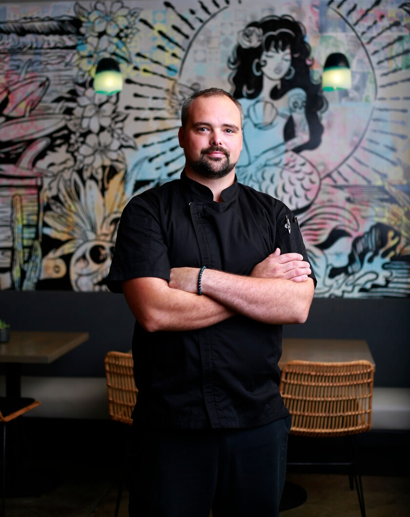A photo of Chef de Cuisine Scott Gestring of Death by Tequila in Encinitas on Oct. 4, 2019.