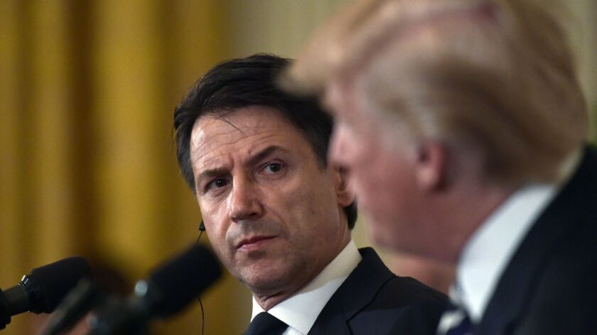 Prime Minister Giuseppe Conte and President Trump