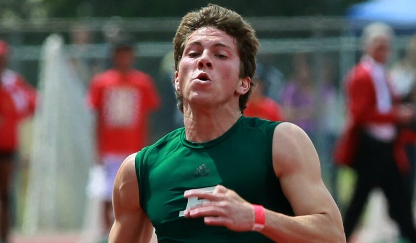 Evan Gray of Poway leads the San Diego Section with a mark of 21.89 seconds in the 200 meters.
