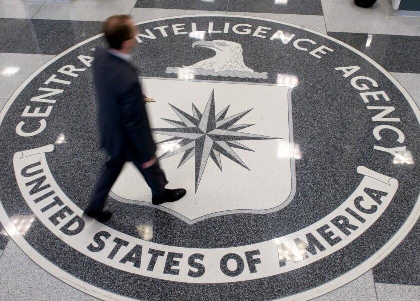 The lobby of CIA headquarters in Langley, Va.