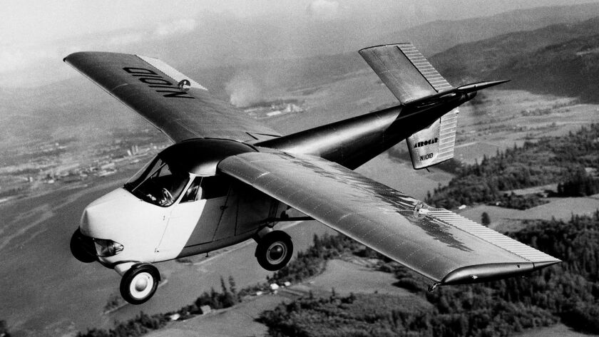 "The Aerocar I flying auto was designed by Moulton ""Molt"" Taylor and built in Longview, Wash., in the late 1940s."