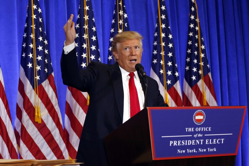 President-elect Donald Trump held his first news conference in nearly six months.