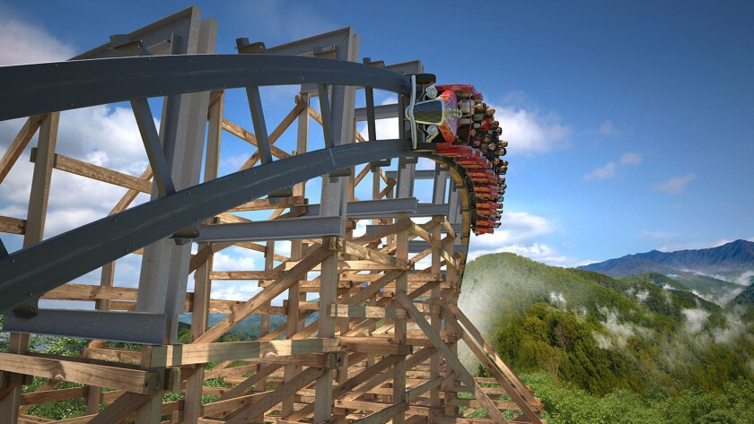 Dollywood's newest ride is being billed as both the world's first launched wooden coaster and the world's fastest wooden coaster.