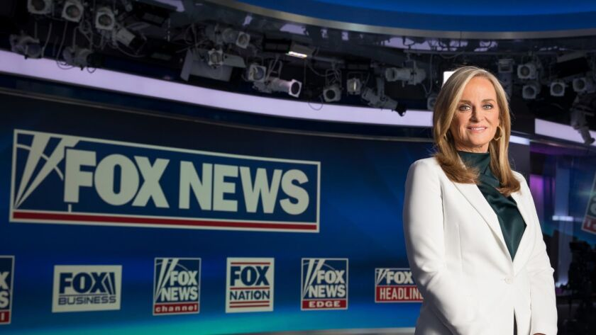 Fox News Chief Executive Suzanne Scott in a studio at Fox News headquarters in New York on March 28.