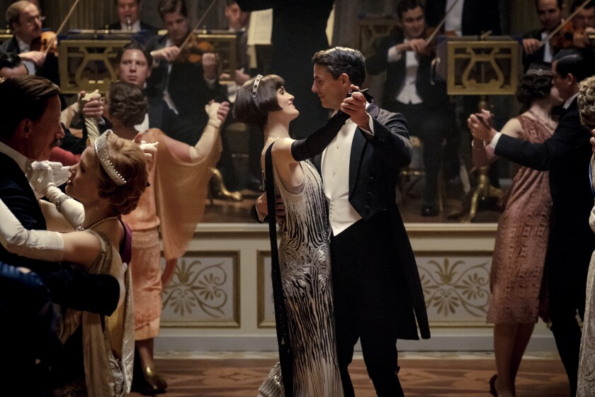 "Michelle Dockery and Matthew Goode in the movie ""Downton Abbey."""