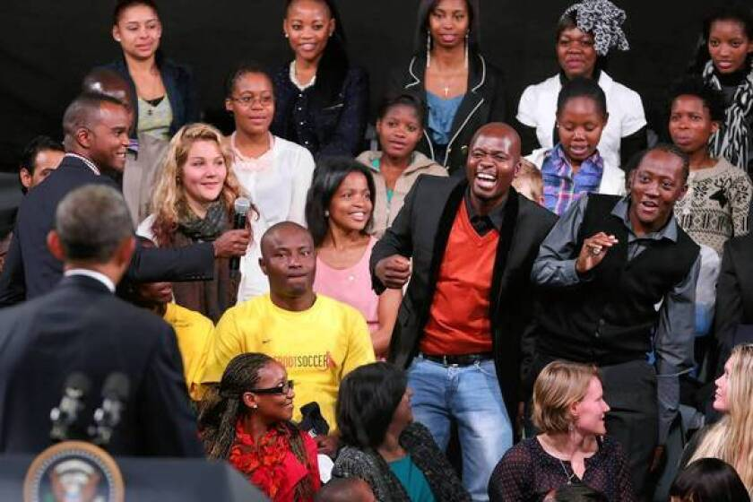 In South Africa, Obama continues his focus on youth