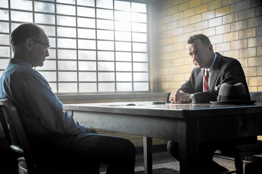 "Mark Rylance and Tom Hanks in ""Bridge of Spies"""
