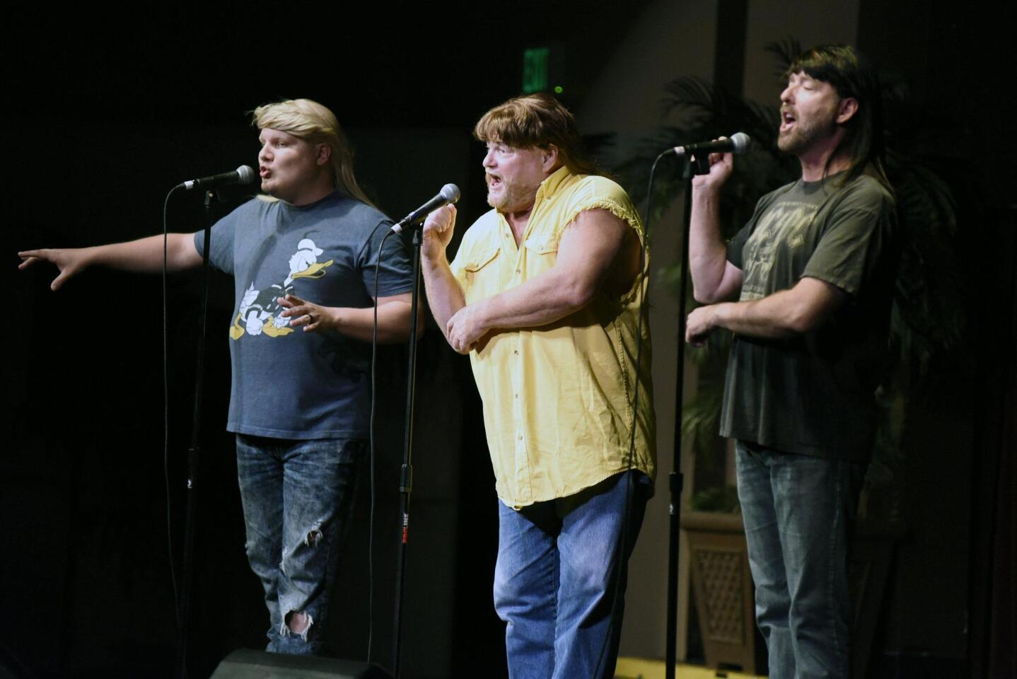 Jonathan Fruge, Matthew Lord, and Blake Davidson are the 3 Redneck Tenors