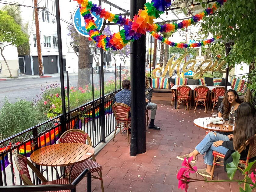 A photo of WeHo Bistro's patio.
