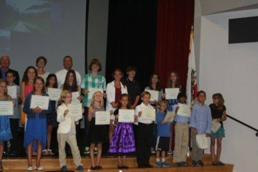 The Rancho Santa Fe School District recently honored 48 students who achieved perfect scores on their STAR tests. See more photos below.