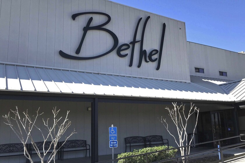 This March 2020, file photo shows the Bethel Church in Redding, Calif.