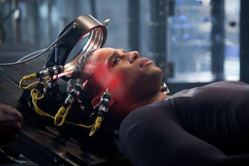 """Michael Ealy in a scene from """"Almost Human,"""" a high-tech, high-stakes action drama set 35 years in the future, when police officers are partnered with highly evolved human-like androids."""