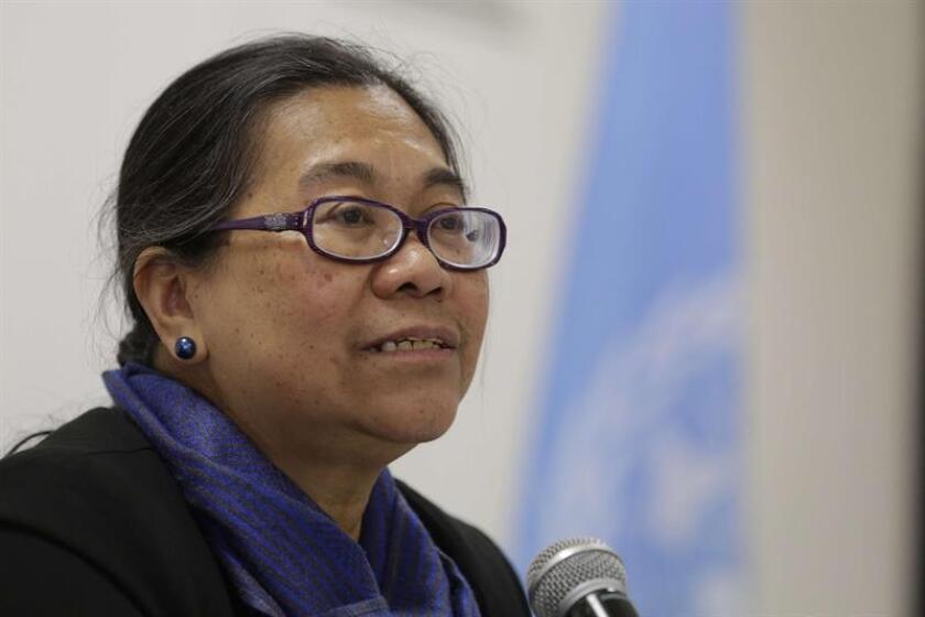 La relatora especial de la ONU para los derechos humanos de los desplazados internos, Cecilia Jiménez-Damary. EFE/Archivo
