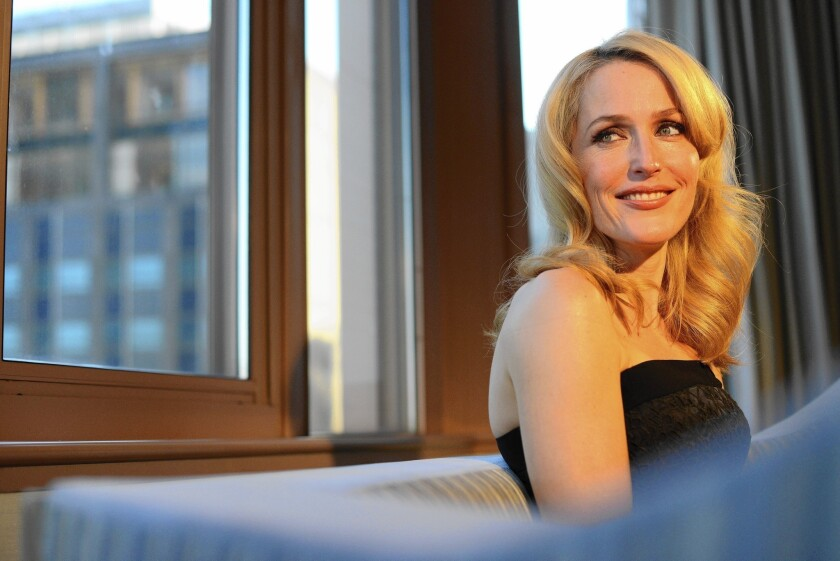 "Gillian Anderson, seen at the London Hotel in Manhattan, will portray Media in the upcoming Starz series ""American Gods."""