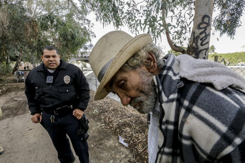 Clearing a homeless encampment