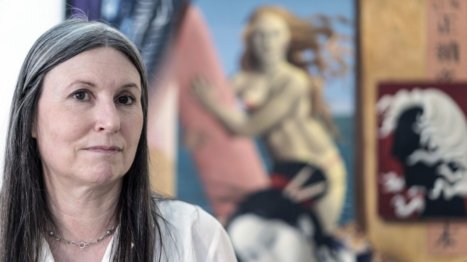 fffee51f0 Seattle-based artist Gabrielle Bakker, in residence at Lux Art Institute,  paints classical characters in contemporary settings - The San Diego  Union-Tribune