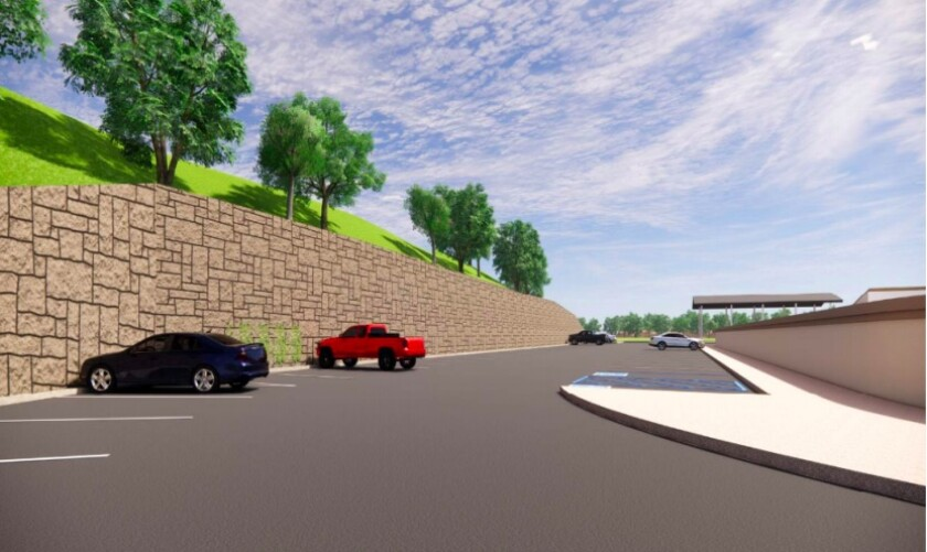 Construction on the new retaining wall at Solana Santa Fe School is expected to begin in June.