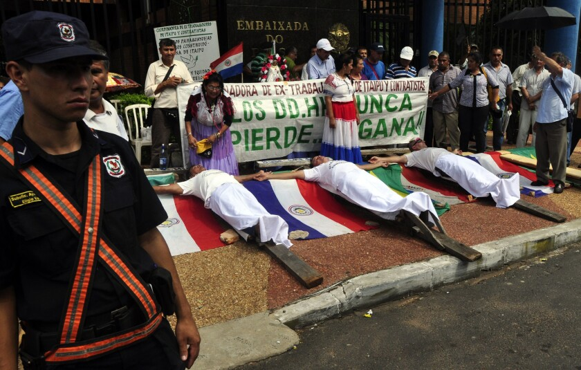 Paraguay protesters