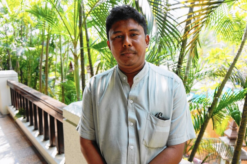 "Myint Zaw's underground ""Save the Irrawaddy"" campaign succeeded in suspending a project to dam Myanmar's most important river. On Monday, Myint Zaw, pictured in Yangon, is being named a winner of the annual Goldman Environmental Prize."