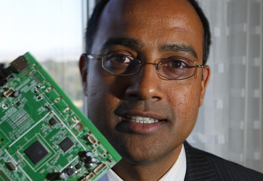 Kishore Seendripu, chairman and CEO of MaxLinear, in a file photo from the Consumer Electronics Show in Las Vegas.