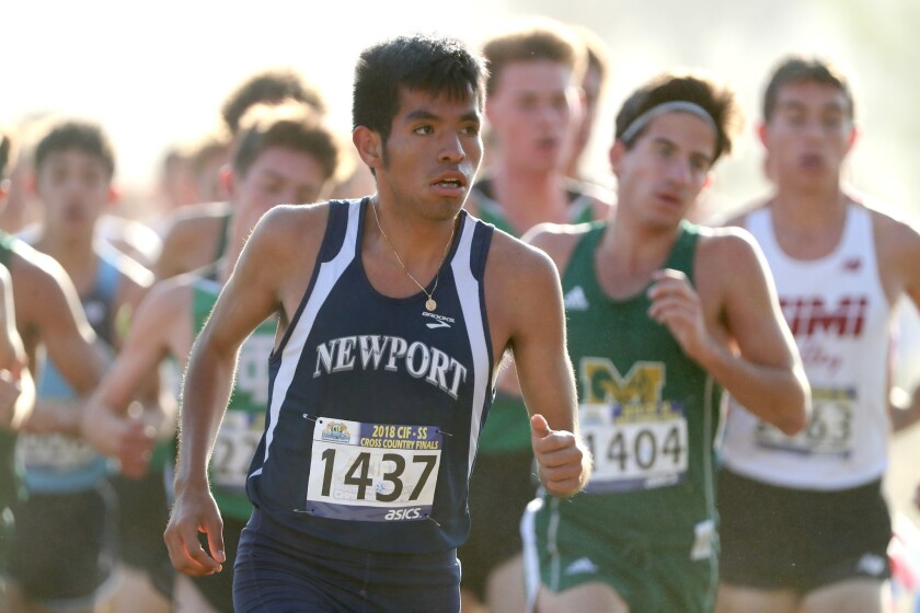 Newport Harbor High School runner Alexis Garcia finished sixth in the boys' division 2 race at the
