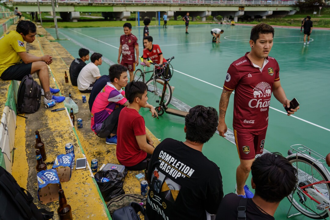 Thai nationals spend their weekends playing soccer in Jeongeup.