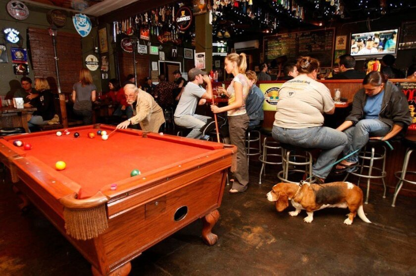 The neighborhood bar Hamilton's Tavern and Cafe in South Park is shown in a file photo before the coronavirus pandemic.