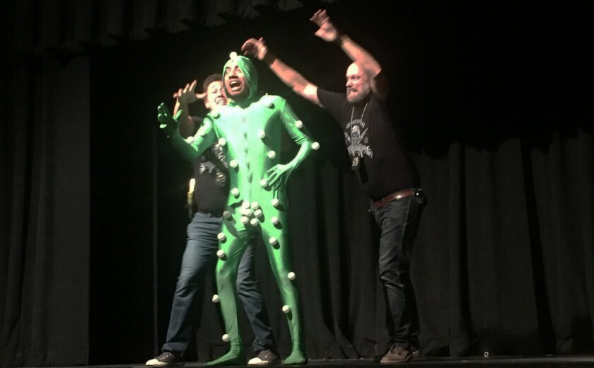 """A scene from """"Space Force!"""" at the 2019 San Diego International Fringe Festival in Balboa Park."""