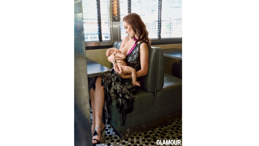 Olivia Wilde breastfeeding son Otis