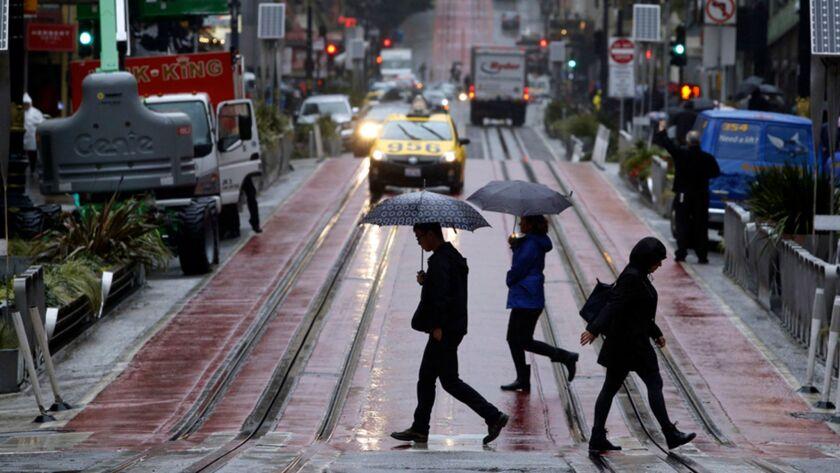Rainy October day in San Francisco