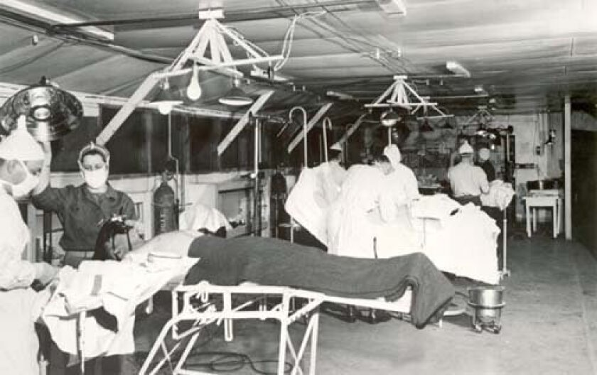 This is an image from the 44th Surgical Hospital (Mobile Army) MASH operating room, Korea, January 1954. Courtesy olive-drab.com