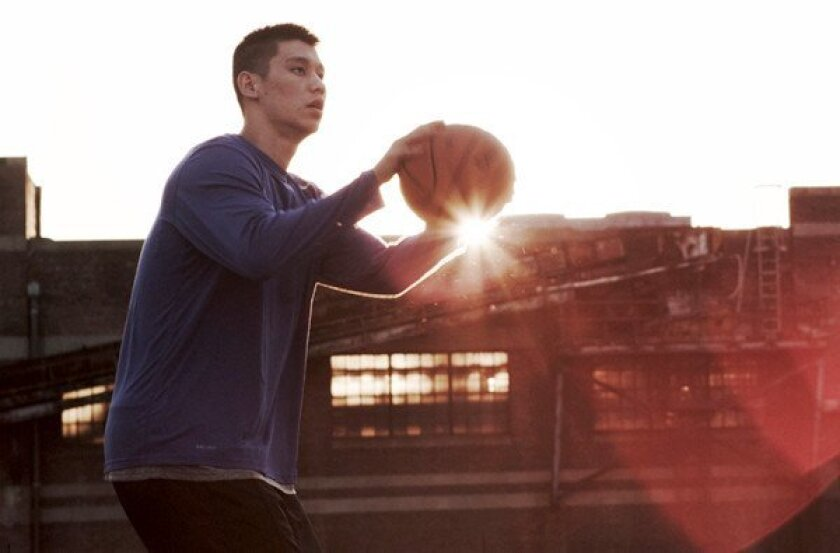 """Jeremy Lin, now of the Houston Rockets, is shown in a scene from the movie """"Linsanity."""""""