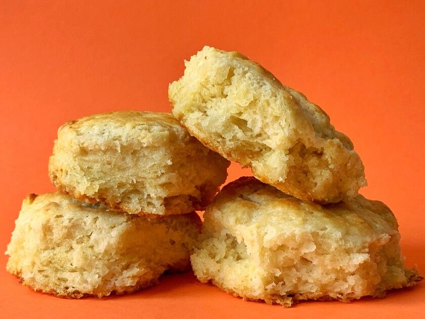 Flaky buttermilk biscuits are the perfect treat to keep in your freezer for lazy weekend breakfasts.