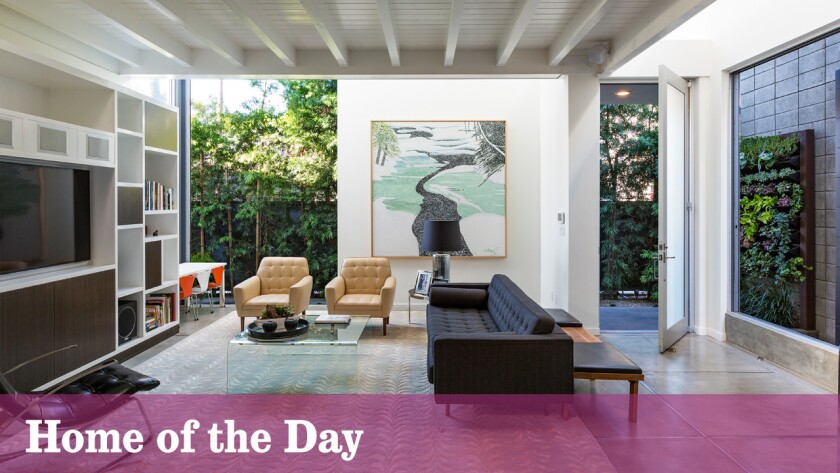 The industrial-inspired contemporary in Venice is listed for sale at $13.995 million.